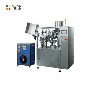 Máquina automática de recheo de tubos de ultrasóns médico e farmacéutico