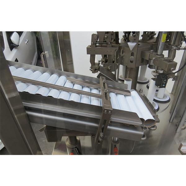 Máquina automática de recheo e selado de tubos de pomada de pel suave