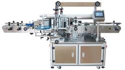 máquina rotuladora autoadhesiva na parte superior plana