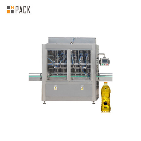Máquina automática de recheo de aceite de cociña e líquido horizontal