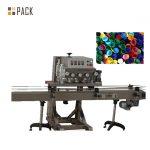 Máquina de recheo de botellas redondas de 500ml con selado de tapa e roda de estrelas en marcha