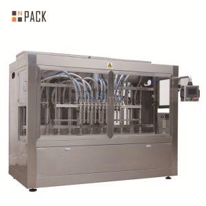 Máquina de recheo automática de 8 boquillas para líquido / pasta / salsa / mel