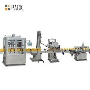 Prezo de fábrica de alta calidade de sementes de xirasol liña de recheo de aceite / máquina de recheo de aceite