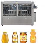 Línea de máquina de etiquetado de encapsulado de melocotón de alta viscosidade, salsa de mel, salsa de mel, automática
