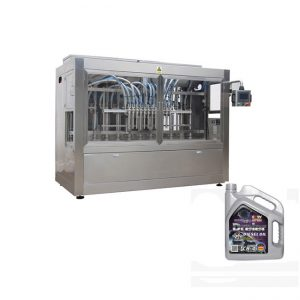 Máquina automática de recheo de aceite de motor para botella de plástico
